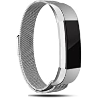 For Fitbit Alta HR Bands, Vancle Adjustable Fitbit Alta Accessories Replacement Bands Metal Wristband Band Strap with Magnetic Closure Clasp for Fitbit Alta HR 2017/ Fitbit Alta 2016 Small Large Size (No Tracker)