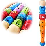keepdrum kfl1or Flûte en bois pour enfants Orange Enfants Flûte