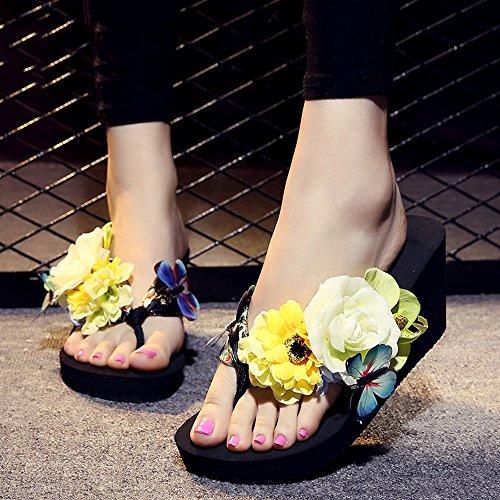 Chanclas MEIDUO sandalias 7cm zapatillas de verano de mujeres gruesas zapatillas de tacón alto inferiores cómodo #2