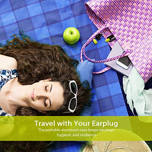 Mpow Foam Earplug, 34dB Highest NRR, 60 Pairs with Aluminum Carry Case, for Hearing Protection, Noise Reduction, Hunting Season, Sleeping, Snoring, Working, Shooting, Travel, Concert by Mpow (Image #4)