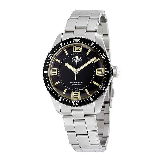 Oris Buzos sixty-five automático Negro Dial Mens Reloj 733 – 7707 – 4064 MB