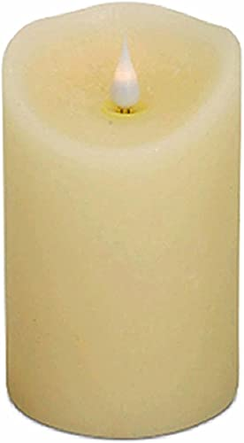 3.5×5 inch Ivory Simplux Flameless LED Candle w Flickering Moving Flame