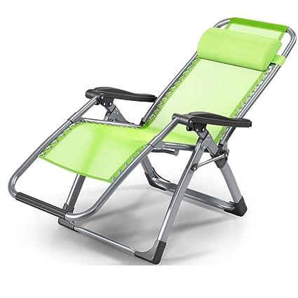 Tumbona YNN Silla de jardín reclinable con reposacabezas Sillas ...