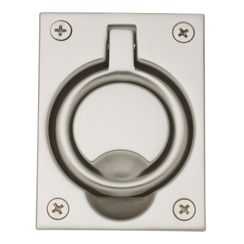 Baldwin 0395150 Flush Ring Pull Satin Nickel Pocket Door Hardware