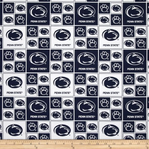 - Sykel Enterprises Collegiate Cotton Broadcloth Pennsylvania State University Fabric by The Yard, Multi