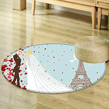 Amazon Mikihome Round Area Rug Carpet Wedding Decorations