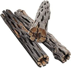 SunGrow Cholla Wood, 5 Inches Long, Aquarium Decoration and Chew Toys for Small Pets, Artistic Home-Decor, Long Lasting Driftwood