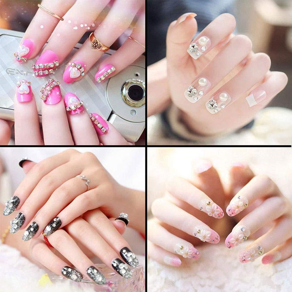 Pawaca Nail Art Pincel de punto, doble cabeza para uñas, diseño de arte de uñas, mango de cristal acrílico, herramienta de aplicador de pintauñas ...
