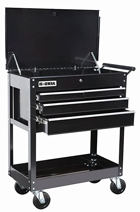 goplus tool cart mechanics slide top utility storage organizer ...
