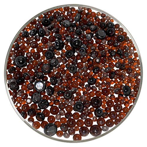 Dark Amber Transparent Frit Balls - 96COE, New Larger 1oz Size - Made from System 96 Glass