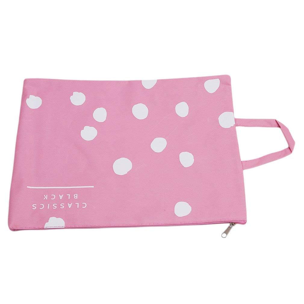 Durable A4 Size Travel Document Case Holder Wallet File Folder Organiser Pink Xeminor