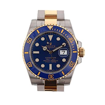 Amazon.com Rolex Submariner Blue Dial Gold And Steel Watch