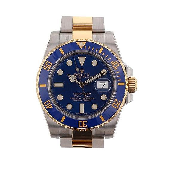 6f5ccbc0c43 Rolex Submariner Azul Dial Oro y Acero Reloj 116613  Amazon.es  Relojes