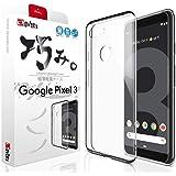 【 Google Pixel3 ケース ~ 薄くて軽い 】 グーグル Pixel 3 ケース ピクセル3 G013B ケース カバー スマホの美しさを魅せる 巧みシリーズ 存在感ゼロ 1.27mm【 液晶保護フィルム 付き】OVER's (貼り付け2点セット付き)