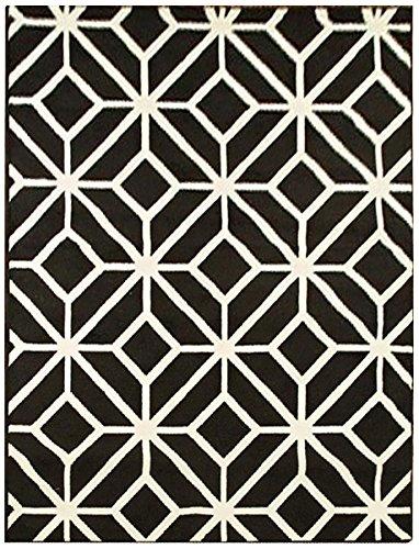 Amazon Com Black Moroccan Trellis 8x11 Area Rug Carpet