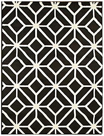 Amazon Com Black Moroccan Trellis 8x11 Area Rug Carpet Abstract