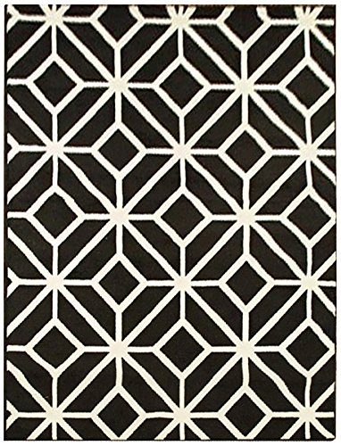 Top Amazon.com: Black Moroccan Trellis 8x11 Area Rug Carpet Abstract  JF98