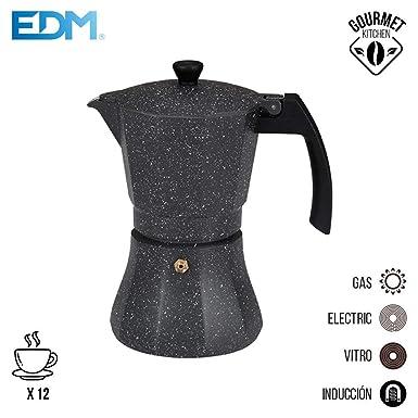 Cafetera 12 tazas aluminio para induccion edm: Amazon.es ...