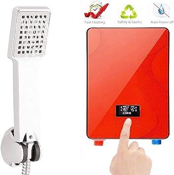 6.5KW 220V Tankless Instant Hot Water Heater Bathroom Shower 30-55℃ Adjustable