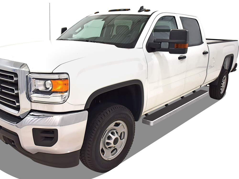 Side Step Nerf Bars Double Cab, with 2 Full Size Front Door and 2 Half Size Rear Door Gevog 6 inches Running Boards for 99-18 Chevy Silverado GMC Sierra Extended Cab