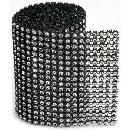 Bling Roll 1yd 18 Black Silver