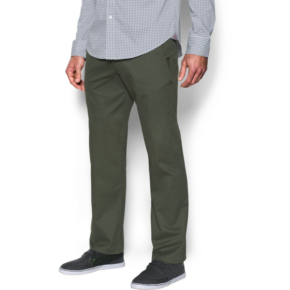 Under Armour Men's Performance Chino – Straight Leg, Downtown Green /Downtown Green, 30/32