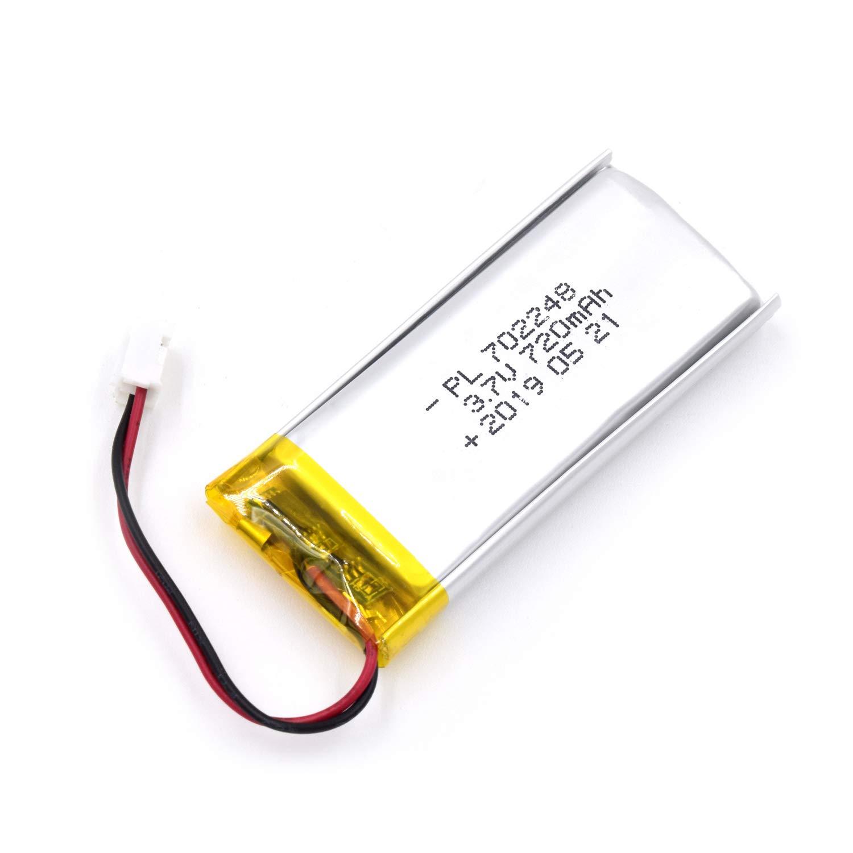 Bateria Lipo 3.7V 720mAh 702248 Recargable JST Conector