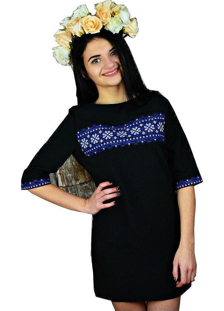 Ukrainian Embroidered Folk Dress Polar Star (Vyshyvanka),Traditional Ukraine Style