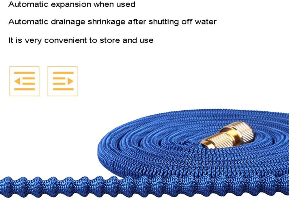 YSHCA Hoses, Expandable Garden Hose Lightweight Flexible Water Hose with Function Nozzle and Triple Latex Core Kink Free Leak Proof,22m/72ft 15m/50ft