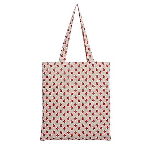 Amazon.com: CaiXia Mujer Bolsa de fresa Impresión de lona de ...