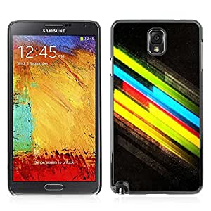 Colorful Printed Hard Protective Back Case Cover Shell Skin for Samsung Galaxy Note 3 III / N9000 / N9005 ( Cool Colors )