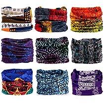 9PCS Magic Scarf, Seamless Bandanas Tube, Headband