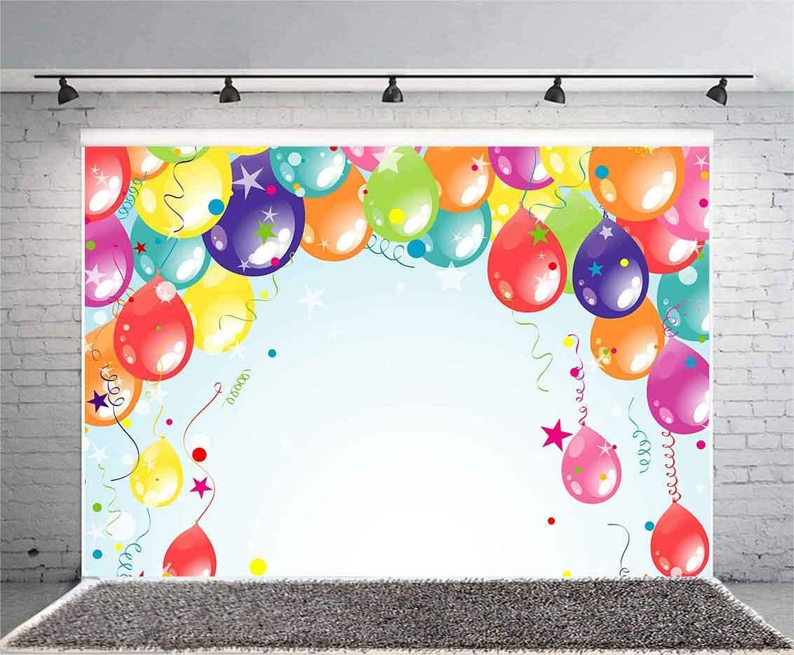 FLASIY Colorful Balloons Backdrop 10x7ft Birthday Wedding Party Photography Background Photo Studio Props XCAY480