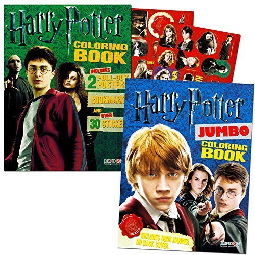 Harry Potter Magical Acitivity Super Set for Kids -- 2 Coloring Books and 3 Science Magic Kits (Herbology, Optical Illusions and Creatures)