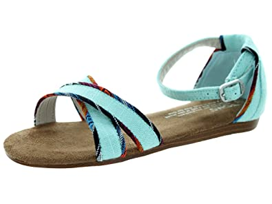 2828092ee242 TOMS Youth Correa Sandal Aqua Burlap Size 2.5 M US Little Kid