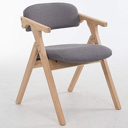 Sillas apilables Nordic Silla de comedor de madera maciza ...