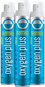 Oxygen Plus 99.5% Pure Recreational Oxygen Cans – O+ Skinni 3-Pack – Energy & Recovery – 3.42 Liter Cans, 12+ Uses - FDA-Registered Facility Oxygen – Canned Oxygen for Hiking, Altitude, Late Nights