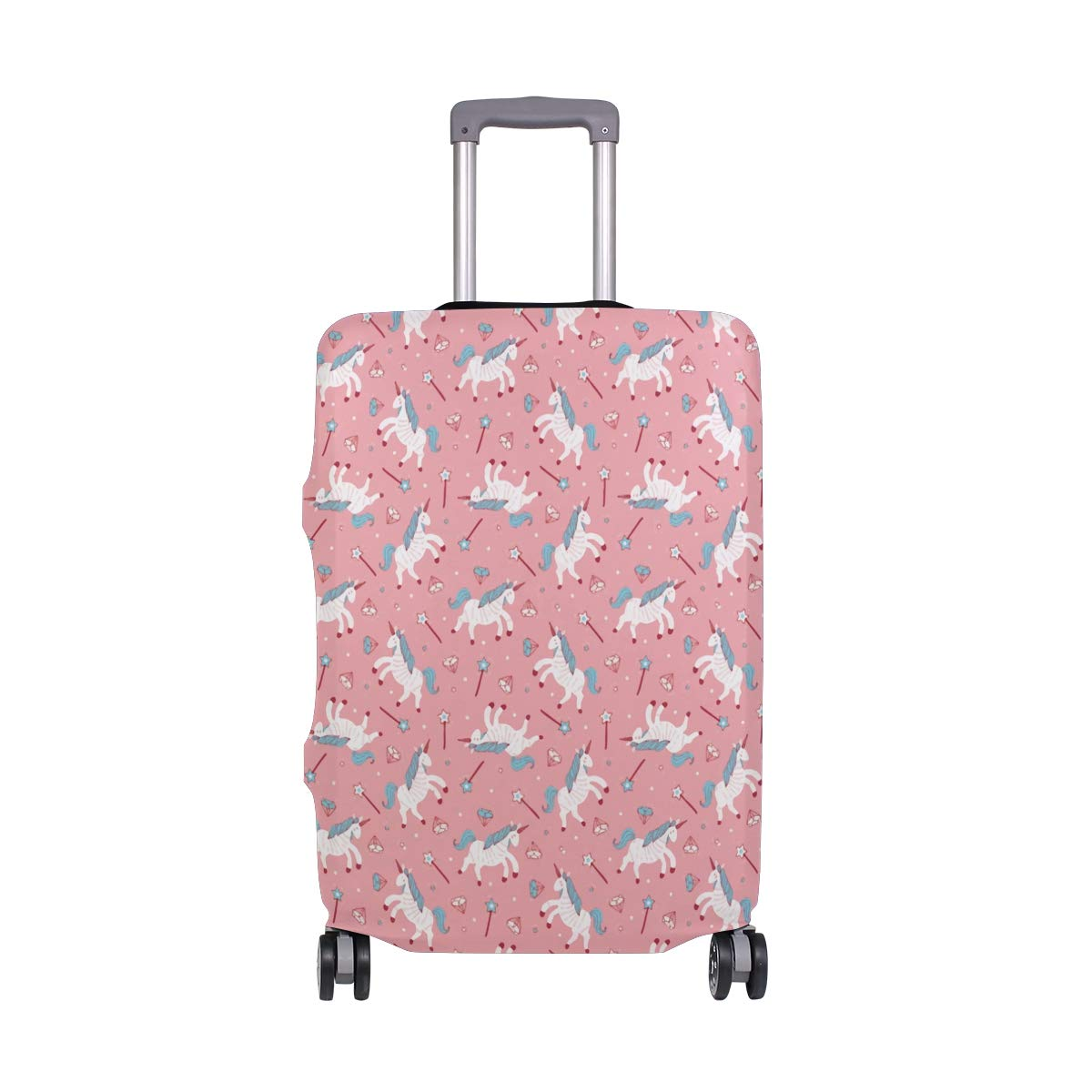 Pink Memories Of Unicrons Travel Suitcase Protector Zipper Suitcase Cover Elastic