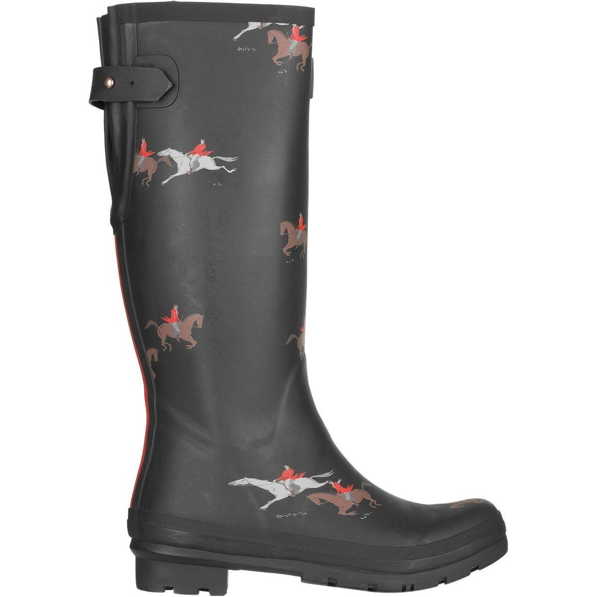Joules Women's Ajusta Rain Boot B06VTXJNR9 8 B(M) US|Olive Horse
