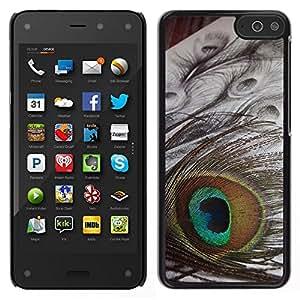 Caucho caso de Shell duro de la cubierta de accesorios de protección BY RAYDREAMMM - Amazon Fire Phone - Ojo del pavo real