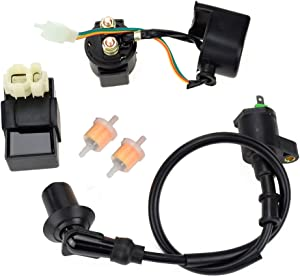 HIAORS 6PIN AC CDI Ignition Coil Relay Fuel Filters for Tomberlin Crossfire 150R Spiderbox 150cc Go karts Parts GY6 150cc Engine Scooter Moped Hammerhead GTS American Sportworks 150