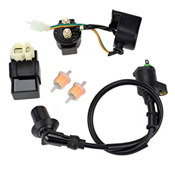 HIAORS 6PIN AC CDI Ignition Coil Relay Fuel Filters for Tomberlin Crossfire on