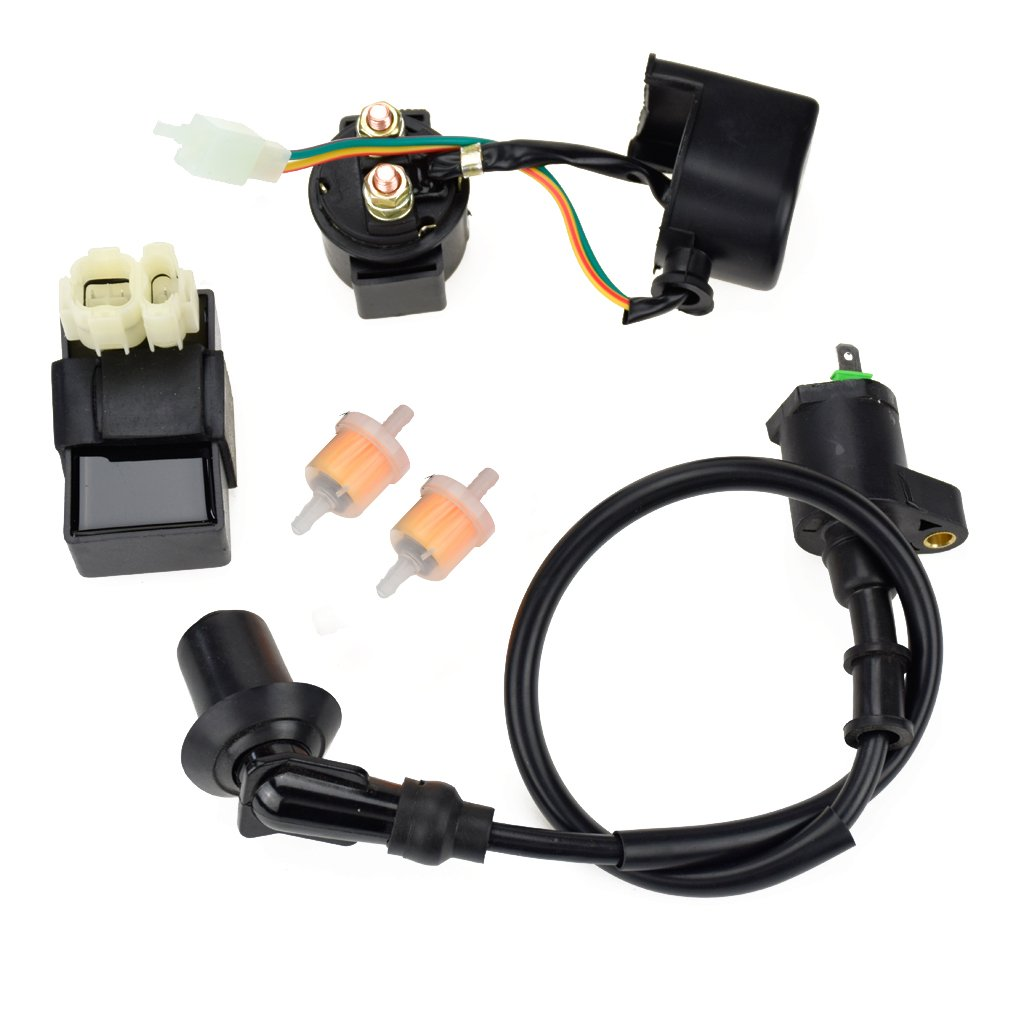 6PIN AC CDI Ignition Coil Relay Fuel Filters for Tomberlin Crossfire 150R  Spiderbox 150cc Go karts Parts GY6 150cc Engine Scooter Moped Hammerhead  GTS