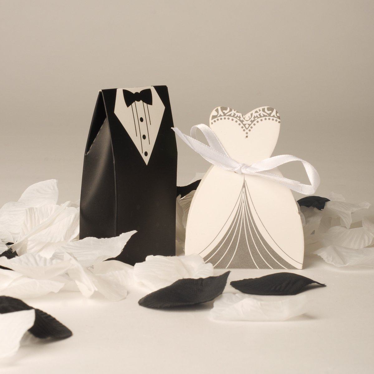 100 Bride And Groom Wedding Favour Boxes (50 Bride & 50 Groom) Style ...