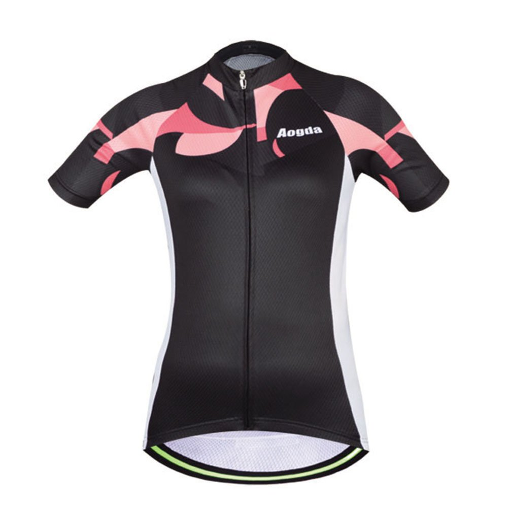 Uriah Women's Cycling Jersey Polyester Short Sleeve Black Racing Size M by Uriah