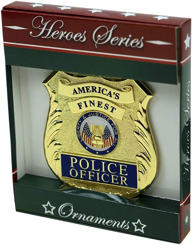 Die-cast Metal and Gold Plating Allied Products Air Force Heroes Series Holiday Ornament Officially Licensed Air Force Medallion