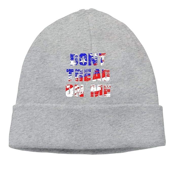 26ce7a0f826 Amazon.com  Beanie Hat Don t Tread On Me 8 Skull Knit Cap for Men ...