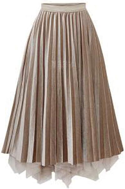 Mujer Gasa Falda Joven Verano Vintage Faldas de Vacaciones Falda ...
