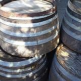 Rustic Oak Half Barrel Planter And/Or End Table