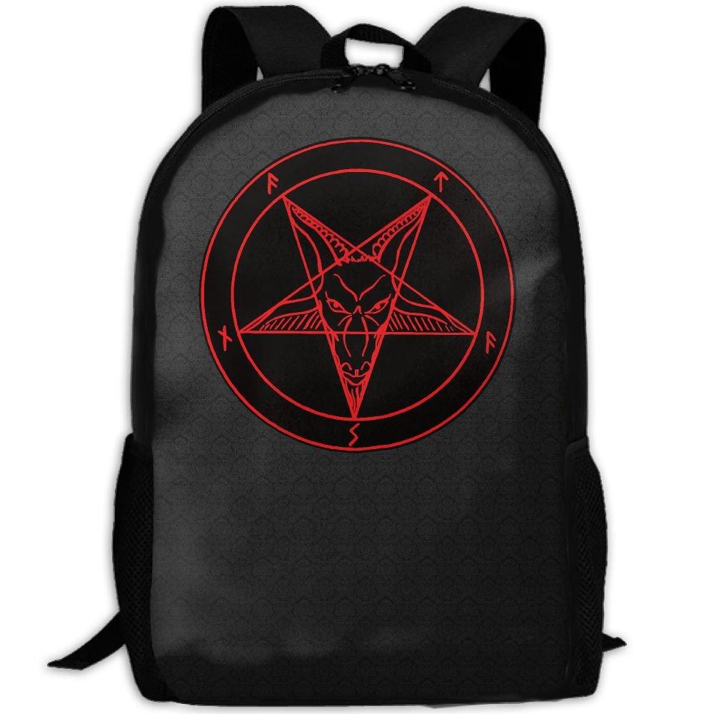Satanic Symbol Star Interest プリント カスタム ユニーク カジュアル バックパック スクールバッグ 旅行 デイパック ギフト   B078R76XBY